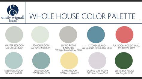 paint color palette for whole house whole house color palette copy jpg