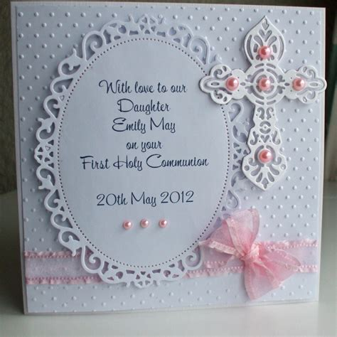 Handmadealized First Holymmunion Card For A