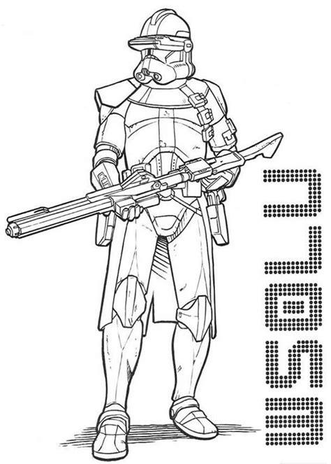 Clone Trooper Kleurplaat by Wars Clone Trooper Coloring Page 28981