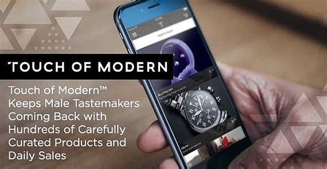 touch  modern  male tastemakers coming