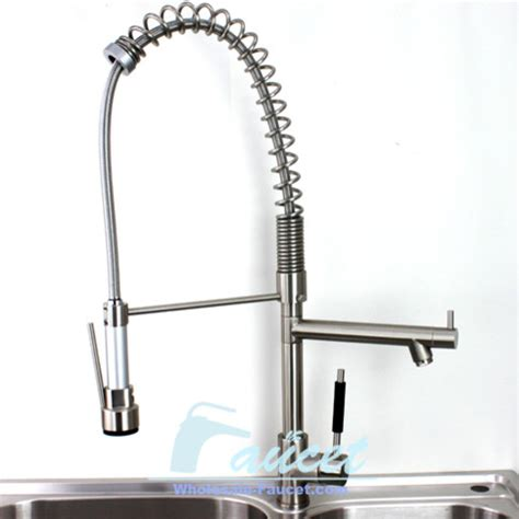 kitchen faucet 3 brushed nickel pull out kitchen faucet contemporary kitchen faucets by sinofaucet