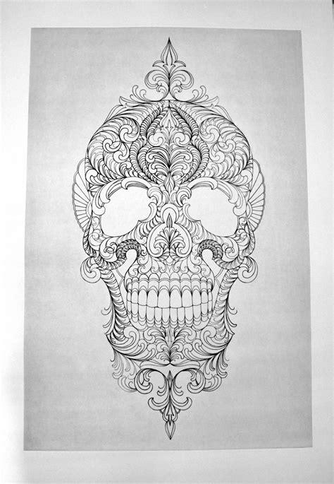 Muerte Skull tattoo sketch | Best Tattoo Ideas Gallery