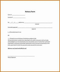 notary letter notary letter With notarized document template