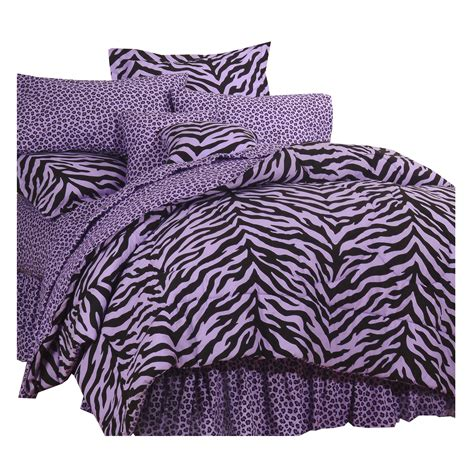 purple and black twin xl zebra print bed in a bag free
