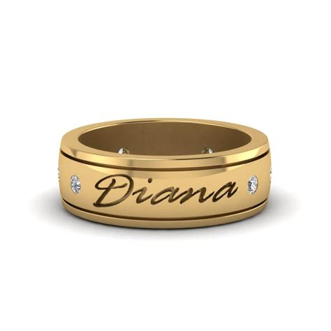 20 wedding rings with name engraved for couples