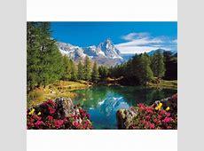 Puzzle Bergsee mit Matterhorn Ravensburger16341 1500