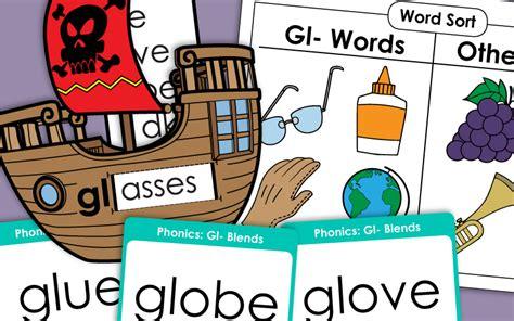 gl consonant blend worksheets