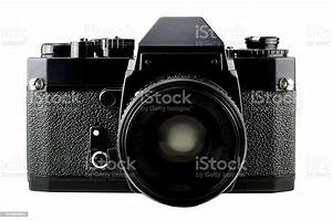 Classic Manual 35mm Camera Isolated On White Stock Photo