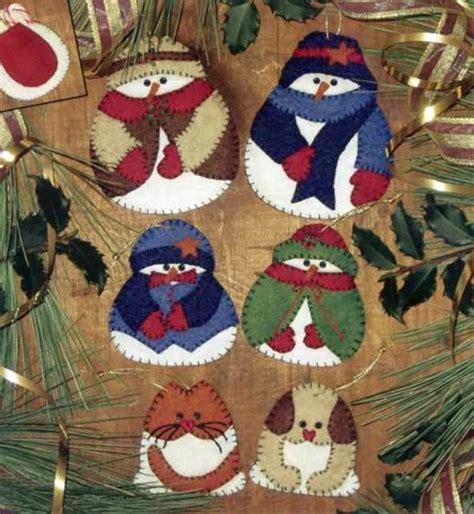 felt christmas ornament patterns  embroidery