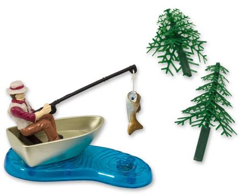 Man In Fishing Boat Cake Topper by Fishing Cake Topper Fisherman S Birthday Cake Topper