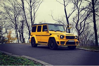 G63 Mercedes Benz Brabus Yellow Suv Wallpapers