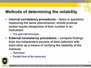 8. validity and reliability of research instruments