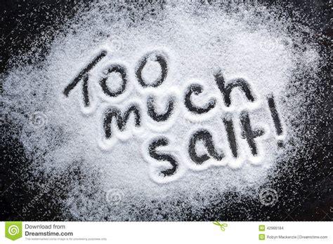 too much salt stock photo image 42966184