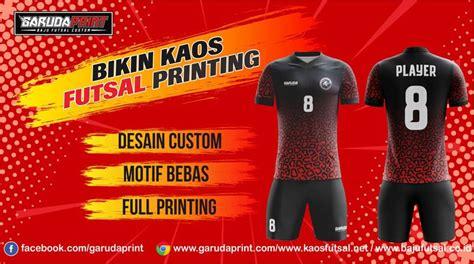 buat kaos jersey futsal printing  boyolali garuda print