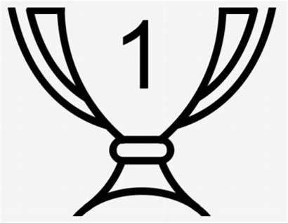 Trophy Clipart Outline Winners Clip Blackline Background