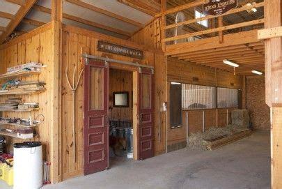 horse barn open loft tack room sliding doors horse barn ideas horse barns barn stalls