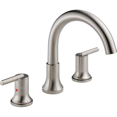 delta trinsic faucet home depot delta trinsic 2 handle deck mount tub faucet trim