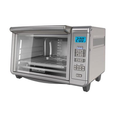 black decker stainless steel convection 6 slice toaster oven black decker 6 slice digital convection toaster oven