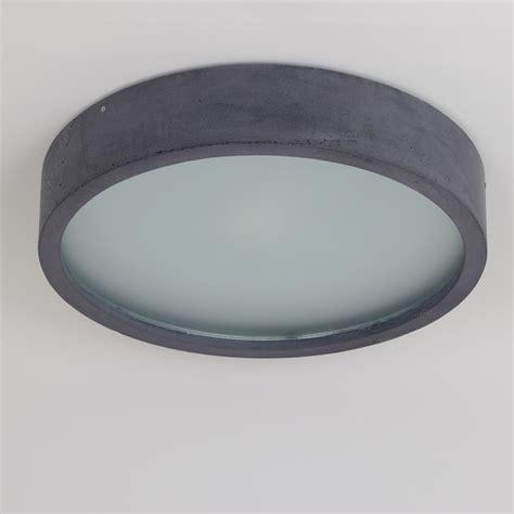 deckenleuchte flach rund plana runde flache deckenleuchte aus beton