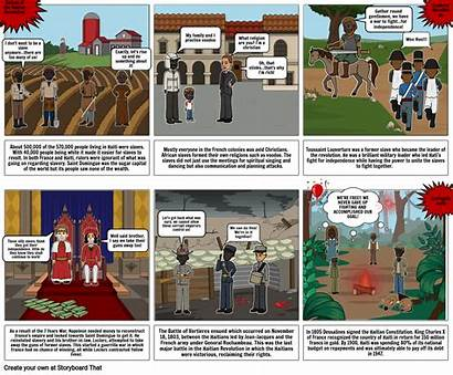 Haitian Comic Revolution Strip Storyboard Slide