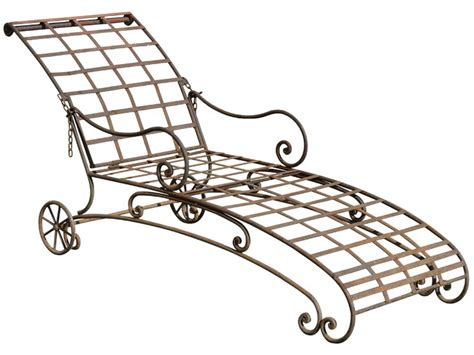 vintage wrought iron chaise lounge home design ideas