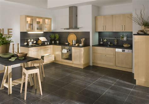cuisine noir plan de travail bois cuisine bois plan de travail noir sofag
