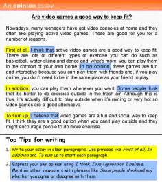 Writing Opinion Essay Examples