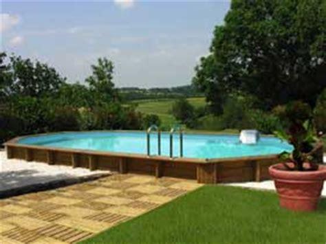 prix piscine semi enterree bois prix d une piscine en bois travaux
