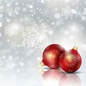 Boule De Neige Noel : boule de no l sur un fond de flocons de neige ~ Zukunftsfamilie.com Idées de Décoration
