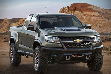 chevy concept truck chevrolet colorado zr2 concept off road trucks never look