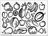 Salad Fruit Coloring sketch template