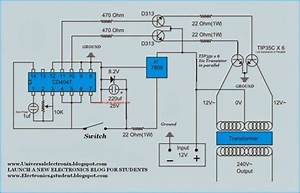 Simple 500 Watt Inverter Circuit Diagram