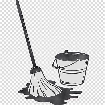 Kitchen Cleaning Clipart Mop Cartoon Transparent Clip
