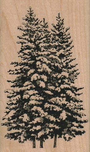 large christmas tree rubber st unmounted stamp 18942 pinkflamingo61 on artfire