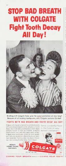 colgate toothpaste vintage ad stop bad breath