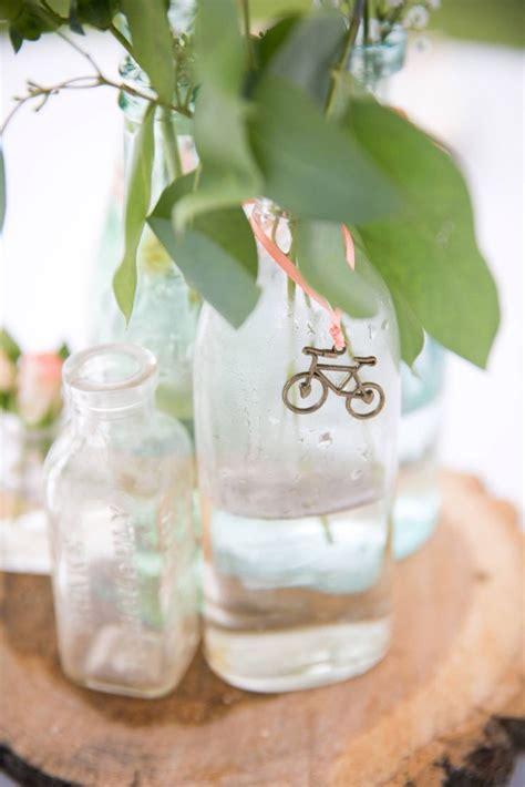 Diy Bicycle Themed Wedding Centerpiece The Wedding
