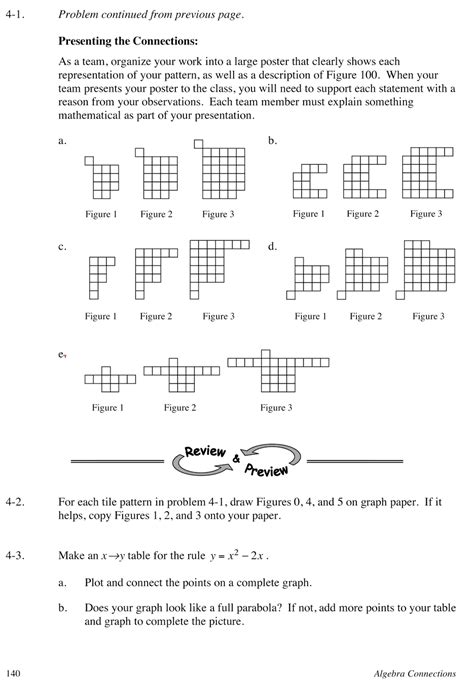 Algebra Tile Patterns Worksheet by Shaping Mathematics Into Compelling Stories