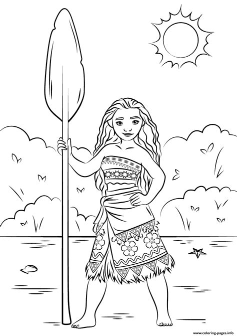 princess moana disney coloring pages printable