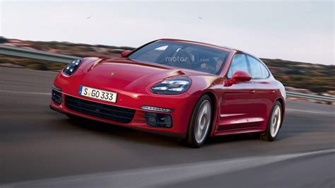 red porsche panamera 2017 2017 porsche panamera teased and rendered yet again