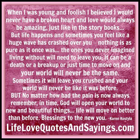 Quotes About Young Foolish Love
