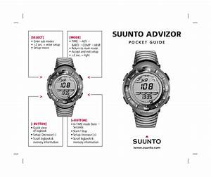 Download Free Pdf For Suunto Advizor Watch Manual