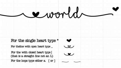 love glitter font specials glyphs  love glitter font heart type  love