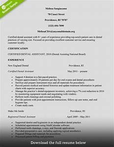 how to build a great dental assistant resume examples With dental assistant resume sample