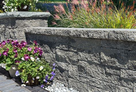 Unilock Wall Installation by Estate Wall 174 Unilock