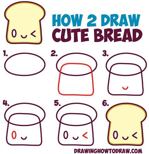 draw cute kawaii food step  food