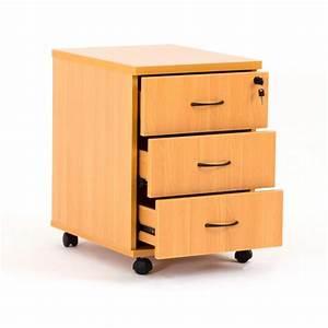 Caisson Tiroir Bois : caisson 3 tiroirs bois roulettes ludy en bois bdmobilier ~ Teatrodelosmanantiales.com Idées de Décoration