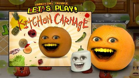 annoying orange kitchen carnage  marshmallow youtube