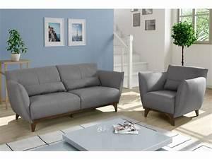 canape et fauteuil en tissu gris ou bleu nuit luanda With canapé fauteuil