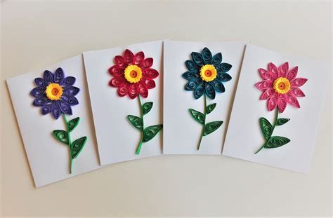 flower greeting cards quilled flower card quilling