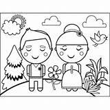 Fashioned Couple Coloring Printable Print sketch template